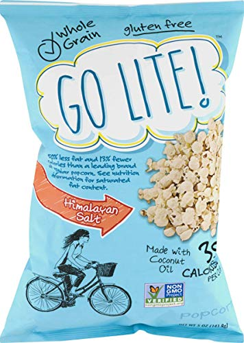 Go Lite! Popcorn- Whole Grain, Gluten Free and Non GMO Verified (Himalayan Salt & Coconut Oil, 4 -