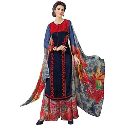 Designer Palazzo Pants Embroidered Salwar Kameez Suit Indian Dress