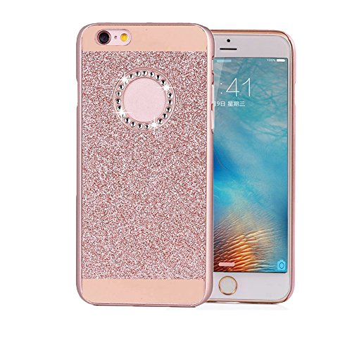 "Price comparison product image iPhone 6/6S Case, Berry Accessory (TM) Luxury Hybrid Beauty Crystal Rhinestone With Gold Sparkle Glitter PC Hard Protective Diamond Case Cover For iPhone 6/6s 4.7"" (Rose Gold)"