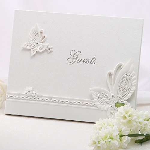 Butterfly Theme Guest Book, Wedding Favors & Accessories - by KateMelon Butterfly Theme Favors