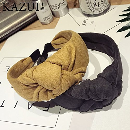 usongs Headdress hair bands simple lady large knotted hair bands headband hair Cave women girls head - Buckle Knotted
