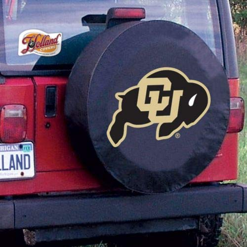 Holland Bar Stool University of Colorado Tire Cover A, Black, Without Security Grommets ()