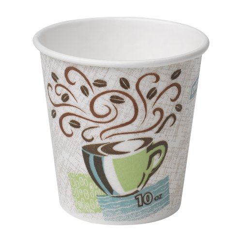 Georgia-Pacific Dixie PerfecTouch 92959 Insulated Paper Hot Cup, 10oz (Case of 20 Sleeves, 50 Cups per Sleeve) by Dixie