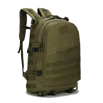 AAJZ Mochilas Tácticas Militares Molle Senderismo Daypacks Camping Senderismo Travelling Daypack Laptop Bag PUBG Mochila Escolar para Niños,Green: ...