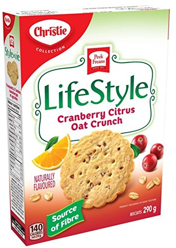 Peek Freans Lifestyle Cranberry Citrus Oat Crunch Cookies | 290g box from Canada