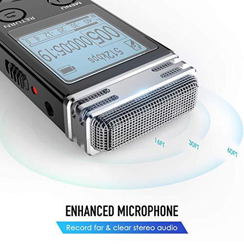 1536Kbps HD Audio Dictaphone Class Meetings ABSETSHOP 16GB Digital ...
