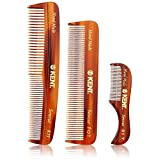Kent Men's Handmade Comb, Set of 3