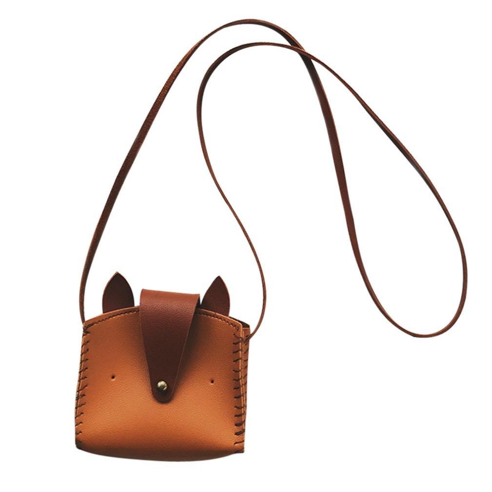 NXDA Cute Animal PU Hasp Handbags Shoulder Bag Crossbody Bag Messenger Bag For Women and Girls (Cute Fox, Brown) high-quality