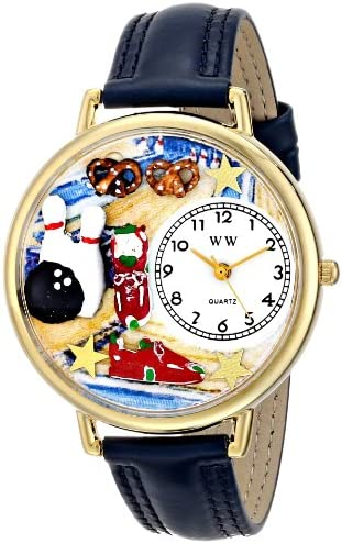 Whimsical Watches Unisex G0820005 Bowling Blue Leather Watch