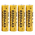 4 Pcs Set 3 7v 18650 9800mah Li Ion Rechargeable Battery Lithium Batteries For Led Flashlight Torch Electric Tools Remote Control Led Flashlights Mobile Power Small Fan Radio Toy