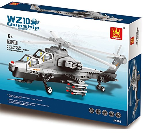 Tactical helicopter Army Fighter war Plane 304pcs building bricks - Air force Military Aircraft battle Jet Vehicle - Building Blocks ,Great Gift for Children