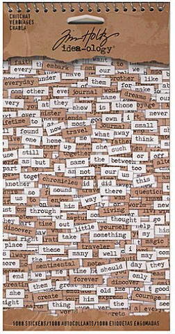 Tim Holtz Idea-Ology Paperie (Chitchat) [2 Pieces] *** Product Description: Tim Holtz Idea-Ology Paperie- Description: Chitchat- Unit: 1088 Word Stickerspaperie Encompasses Various Paper Embellishments To Add To Your Creative Projects.The Booklet ***