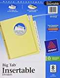 Avery WorkSaver Big Tab Insertable Dividers, 8-Tabs, 1 Set (11112)