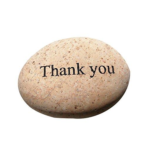 Cheap Thank you Engraved StoneInspirational Sandblast, Perfect Gorgeous Unique Gift Ideas, Natural Beach Pebble Rock