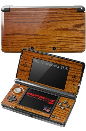 Nintendo 3DS Decal Style Skin - Wood Grain - Oak 01