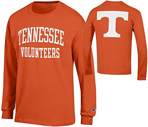Sleeve Volunteers Tennessee Long (Elite Fan Shop Tennessee Volunteers Long Sleeve Tshirt Back Orange - L)
