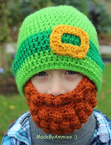 645f0f4a Amazon.com: Crochet St Patrick's Day Mens Ginger Beard Leprechaun St ...