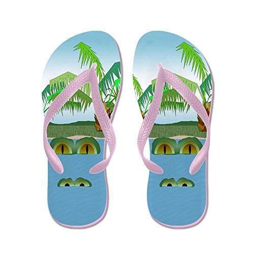 Cafepress Stor Croc - Flip Flops, Roliga Rem Sandaler, Strand Sandaler Rosa