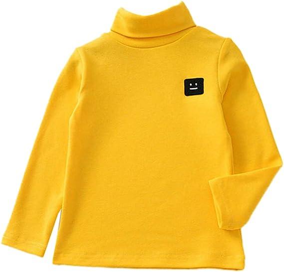 QinMM bebé niña niño Cuello Alto Sudadera Tops Camisetas tee Manga Larga Blusa Camisa Invierno otoño: Amazon.es: Ropa y accesorios