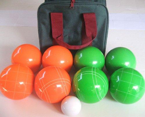 Unique Premium Quality EPCO Tournament Set - 110mm Green and Orange Bocce Balls with high qua...