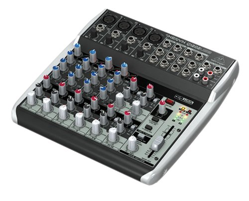 Behringer, 12 Mixer - Powered, Black (Q1202USB) (Alesis Audio Mixer)