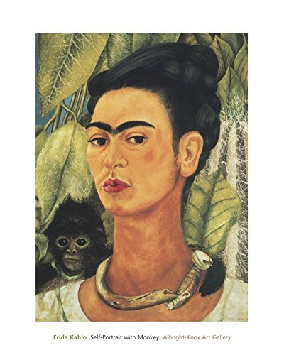 Frida Self-Portrait with Monkey, 1938 Poster Print (16 x 20)