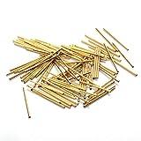 Kamas New Safety Test Pin R048-2C Metal Test Needle Sleeve Probe Needle Sleeve Length 14 mm Needle Seat Spring Detection 100 / Bag - (Length: 14MM)