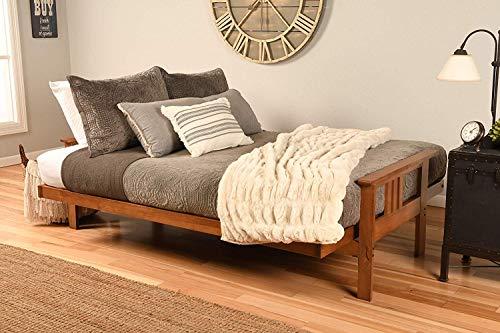 Kodiak Furniture KFMOBBLSTNLF5MD3 Monterey Futon Set with Barbados Finish, Full, Linen Stone