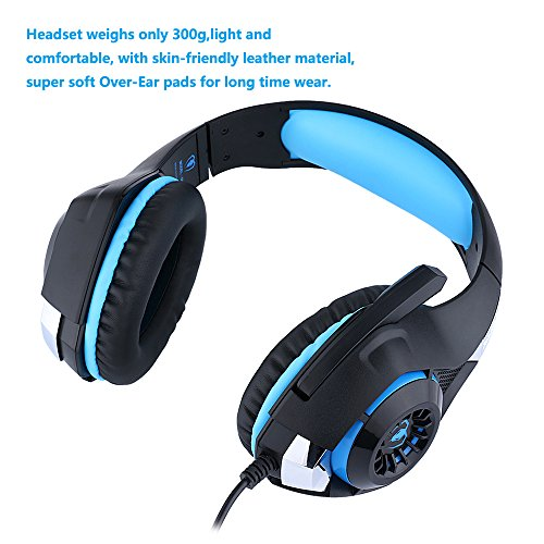ohcome stereo gaming headset for ps4 pc professional 3. Black Bedroom Furniture Sets. Home Design Ideas