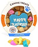 Claudia's Canine Cuisine Peanut Butter Dog Cookies, 10-Ounce, Happy Birthday, Blue