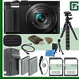 Panasonic Lumix DMC-ZS50 Digital Camera (Black) + 32GB + 64GB Greens Camera Bundle 2