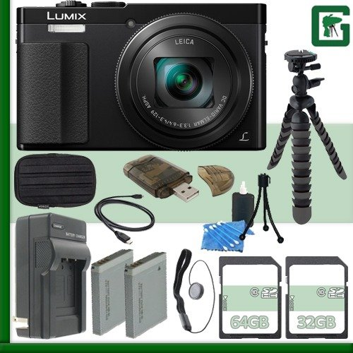 Panasonic Lumix DMC-ZS50 Digital Camera  + 32GB + 64GB Green