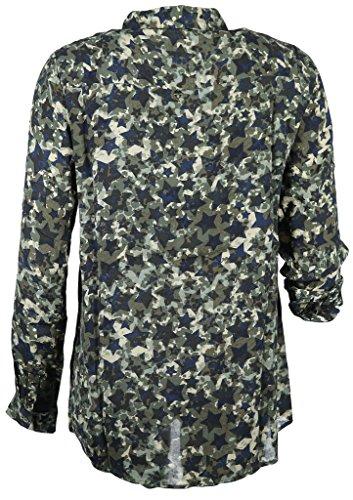 Rich & Royal Damen Bluse Größe 36 Blau (blau)