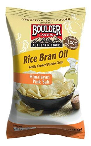 Pink Rice (Boulder Canyon Kettle Cooked Potato Chips, Rice Bran Oil, Himalayan Pink Salt, 6.0oz (Pack of)