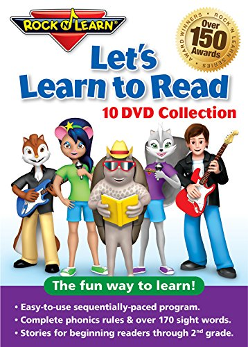 Let's Learn to Read 10-DVD Collection by Rock 'N Learn