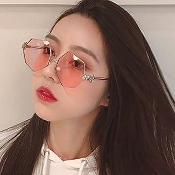 VVIIYJ Gafas de Sol octogonales Irregulares Mujer Cara ...