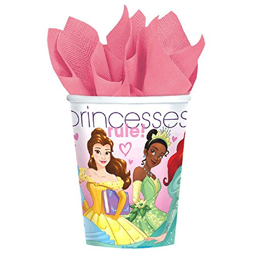 Ultimate Disney Princess Party!!!Birthday Party Decoration Supplies Bundle Pack with 16lg&16sm Plates 16-9oz Cups, Matching Table Cover&Jumbo Banner,50 Napkins(Bonus Matching Party Straw Pack) by Everyday Party Bundles (Image #3)