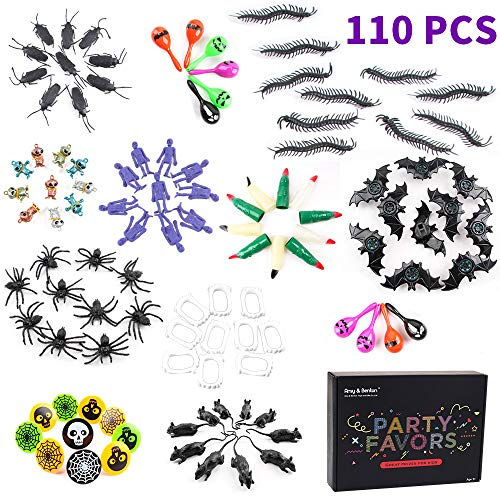 Amy&Benton Halloween Party Favors for Kids 110PCS Practical Jokes Toy Assortment Prizes Giveaways Pinata Fillers Clearance]()