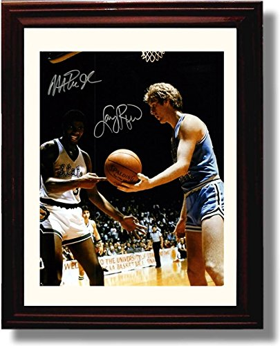 Framed Magic Johnson/Larry Bird Championship Game Autograph Replica ()