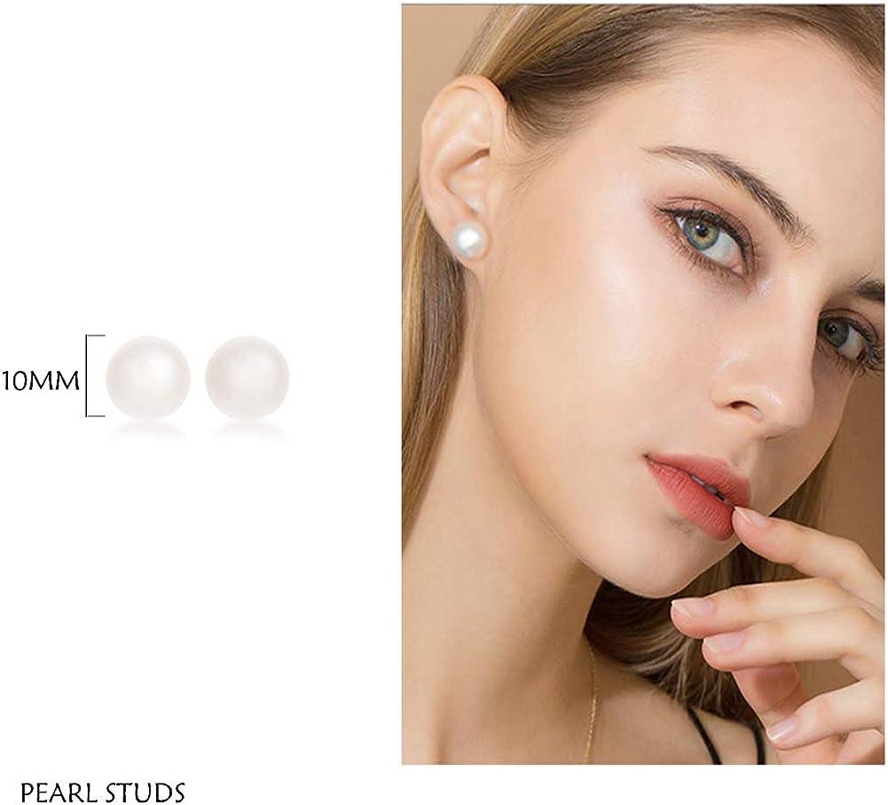 Pearl Stud Earrings - Big...