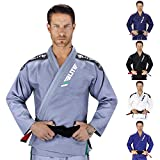 Elite Sports IBJJF Ultra Light Brazilian Jiu Jitsu Gi with Preshrink Fabric and Free Belt, Grey, A3
