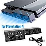 Computer Cooler Fan, WinnerEco Smart Turbo Temperature Control USB Cooling Cooler 5-Fan for Playstation 4