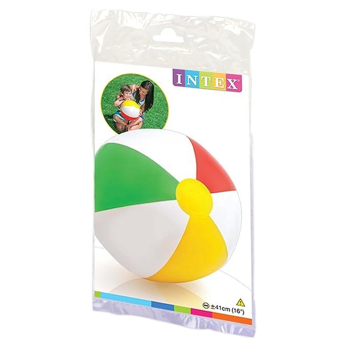 Intex - Pelota hinchable de 41 cm de diámetro (59010): Amazon.es: Juguetes y juegos
