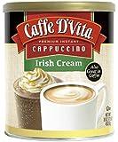 Caffe D'Vita Irish Cream Instant Cappuccino Mix 16 Ounces (Pack of 6)