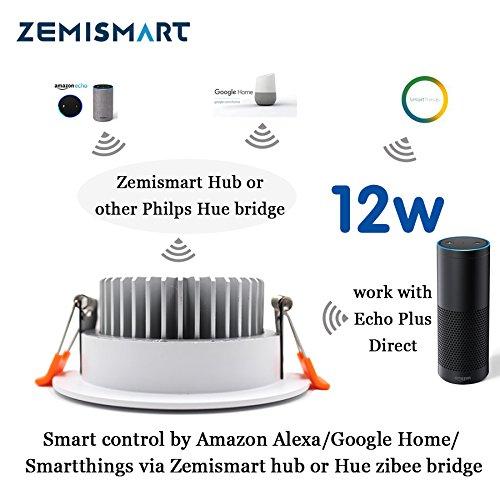 Uacute ltima ZigBee 3.0 Smart lámpara de techo RGB Downlight controled por Alexa Echo Plus Hogar inteligente Multi color: Amazon.es: Hogar