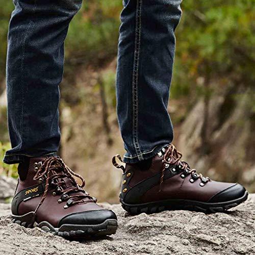 Nouvelles Neige Étanche Chaussures Plein Unie Haut Marron Randonnée lin Hiver Trekking En Tops Chaud Day De Baskets Mode Hommes Couleur Botte Air Liquidation wgtqRU