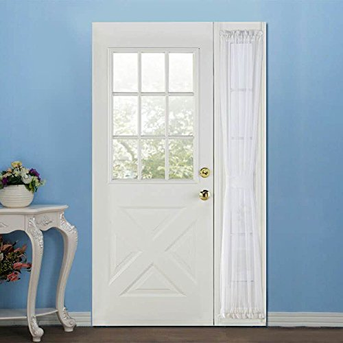 RHF Sidelight Panel Curtains for French Door - Side Light Front Door Curtain with Tieback, 30