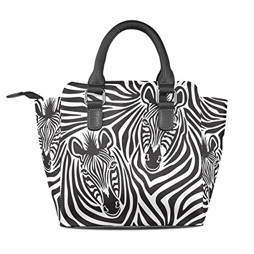 In Borsa Donne Tote Borse Coppia handle Pu Le Zebra Medio Tracolla Coosun Multicolore Pelle Borsello Top A 8g7Bwq4x