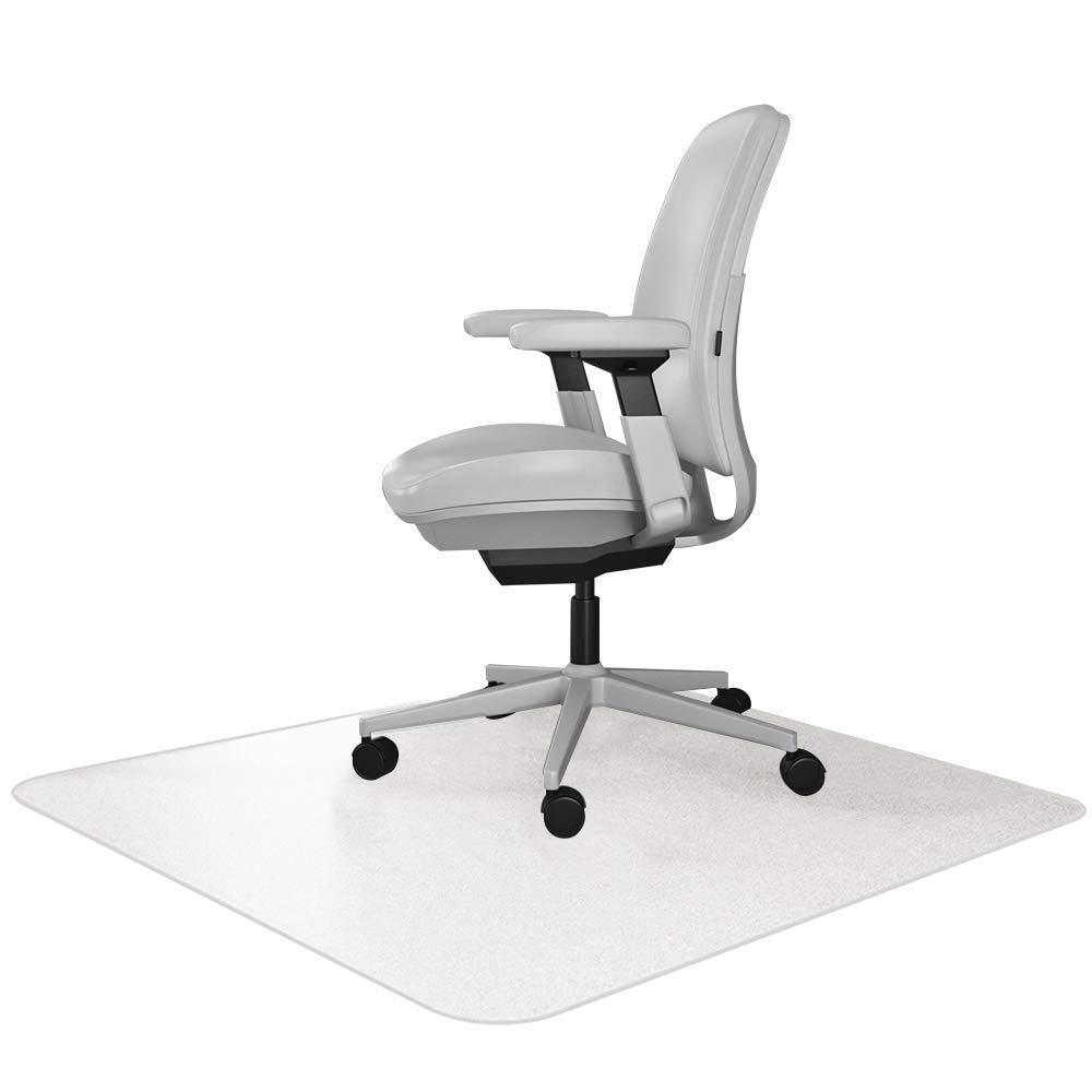 Resilia Office Desk Chair Mat – for Carpet (with Grippers) Clear, 47 Inches x 57 Inches, Made in The USA