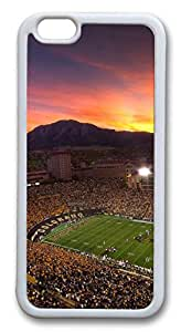 iphone 6 plus 5.5inch Case and Cover Colorado Football Field TPU Silicone Rubber Case Cover for iphone 6 plus 5.5inch White